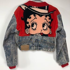 Betty Boop Vintage To Cute Jean jacket size XS
